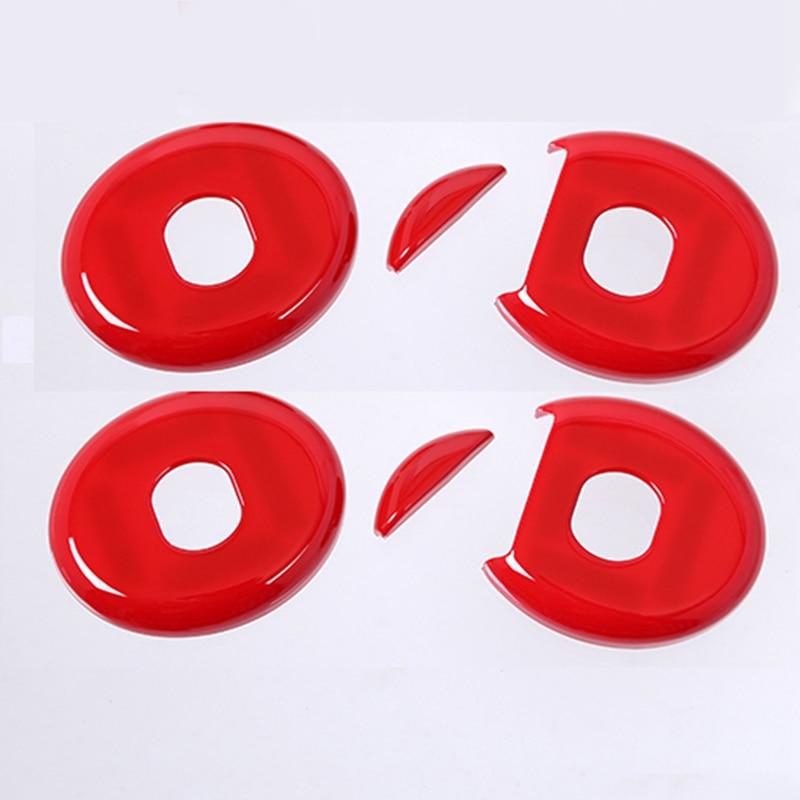 Red Car Headrest Button Cover Trim Decoration For Mercedes Benz C