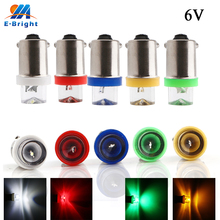 100/300pcs 6V 6.3V BA9S-V LED Light Bulb T4W T11 CE Customized Car Styling White Blue Red Amber Green Auto Indicator Bulbs 2x car led festoon dome door lights ba9s 5smd 5050 t11 t4w white red green blue 182 car marker backup bulb tail light wedge lamp