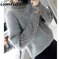 Knittrd Sweater Women Casual Angora Sweater O Neck Pullovers Long Sleeve Female Knittrd Sweater Winter Turtleneck Blend Thick