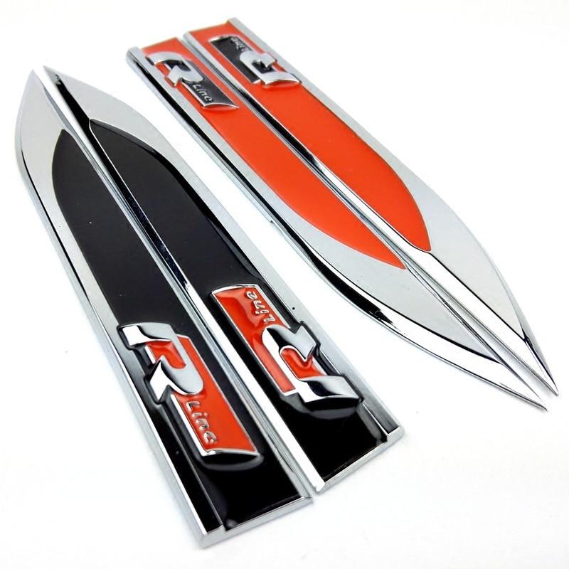 2017 metal r line rline car fender side badge sticker emblem for volkswagen vw polo golf 6 5 7. Black Bedroom Furniture Sets. Home Design Ideas