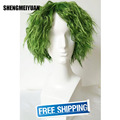 SHENGMEIYUAN The Green Knight joker Short Curly Men's Movie Anime Cosplay Wig 100% high temperature fibre free ship