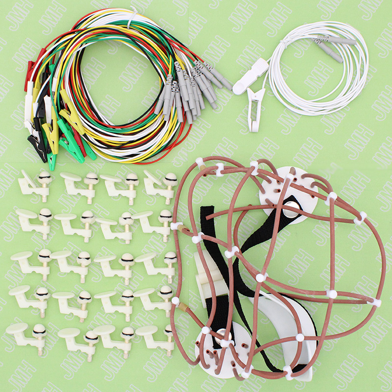 24 Hours EEG Device Combination With Din 1.5 Plug Ear Clip And Alligator Electrode Clip,Fixed Bracket And Eeg Cap For Contecmed