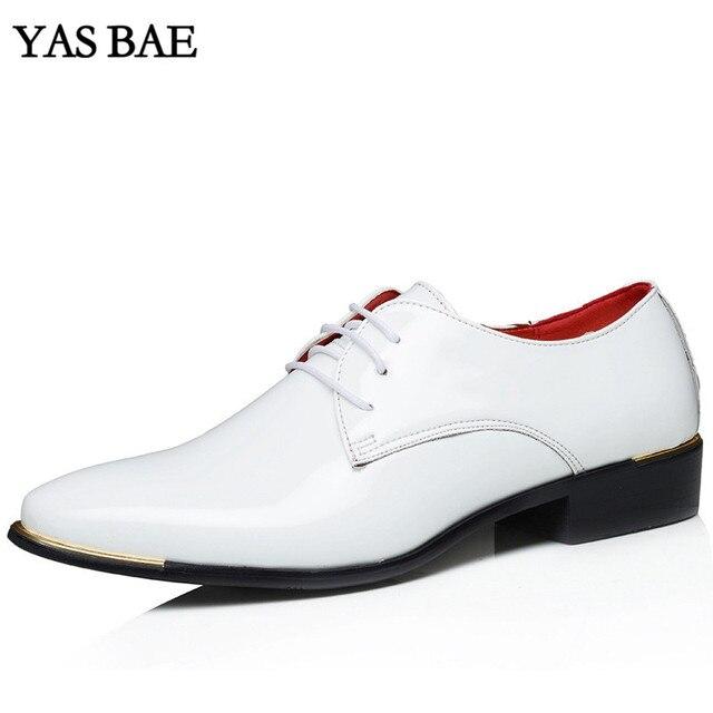 6e9d6e9e2 Tamanho grande china marca clássico Calçado masculino preto Branco Marrom  impulso vestido escritório de couro Grande