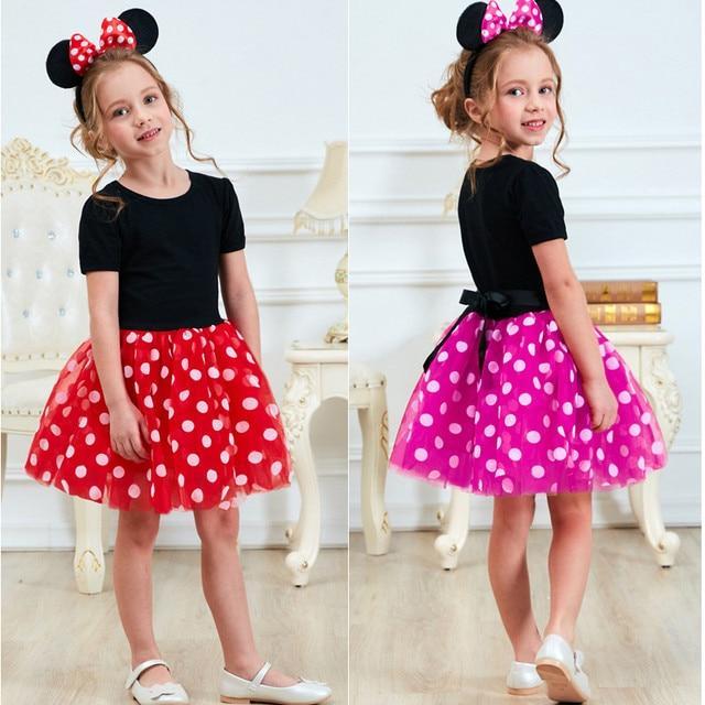Ưa thích 1 Năm Sinh Nhật Đảng Dress Cho Lễ Phục Sinh Cosplay Minnie Chuột Ăn Mặc Kid Trang Phục Bé Gái Quần Áo Cho Trẻ Em 2 6 T Mặc
