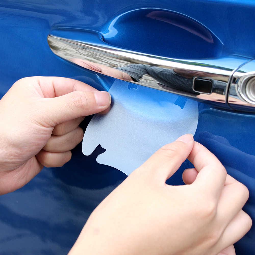 4 pièces universel Invisible poignée de porte de voiture rayures Automobile secoue Protection vinyle protecteur Films voiture poignée Protection