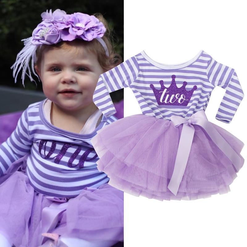 2018 Baby Princess Girls Toddler New Born Flower Dress for Newborn ...