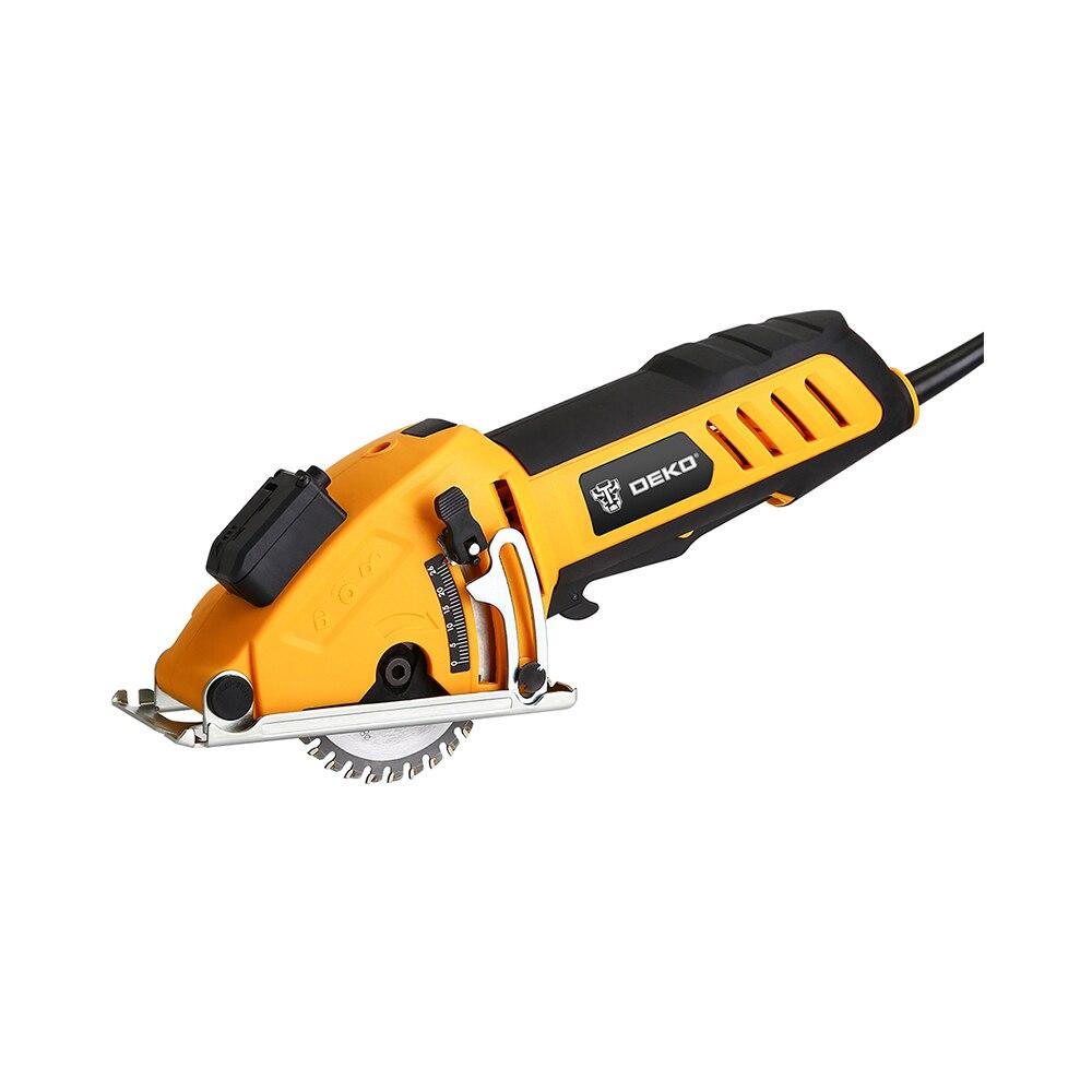 Мини циркулярная пила power T с лазером, 4 лезвия, пыли проход, шестигранный ключ, вспомогательная ручка, BMC Глубина коробки 0 ~ 28,5 мм