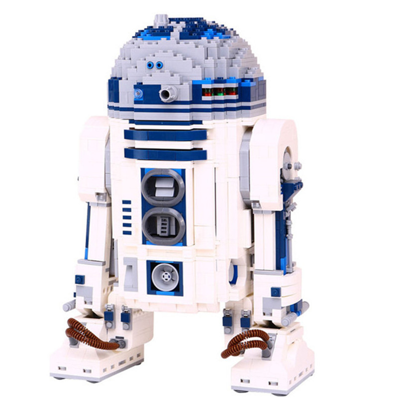New Genuine Star Series The R2 Robot Set D2 Out Of Print Building Blocks Bricks Compatible With 10225 Toys for children lol gift new lepin 16009 1151pcs queen anne s revenge pirates of the caribbean building blocks set compatible legoed with 4195 children