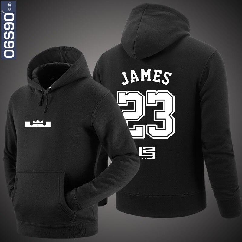 premium selection 7a094 62d84 € 24.3 |LeBron James mode Conception #23 logo Hoodie Coton Sweat hiphop  tops dans Hoodies et Pulls Molletonnés de Mode Homme et Accessoires sur ...