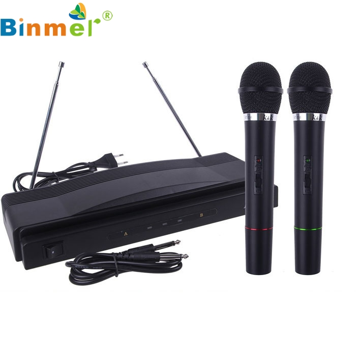 Drop shipping Professional Wireless Microphone System Dual Handheld + 2 x Mic Cordless Receiver Aug 22