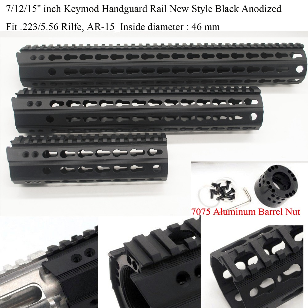 Aplus 7 12 15 inch Ultralight New Design Keymod Handguard Rail Picatinny Mount System fit 223