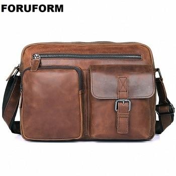 c06ace274032 100% Пояса из натуральной кожи Для мужчин Модная Сумка Для Мужчин's  Курьерские сумки мужские клапаном натуральной кожи сумка Сумки через плеч.