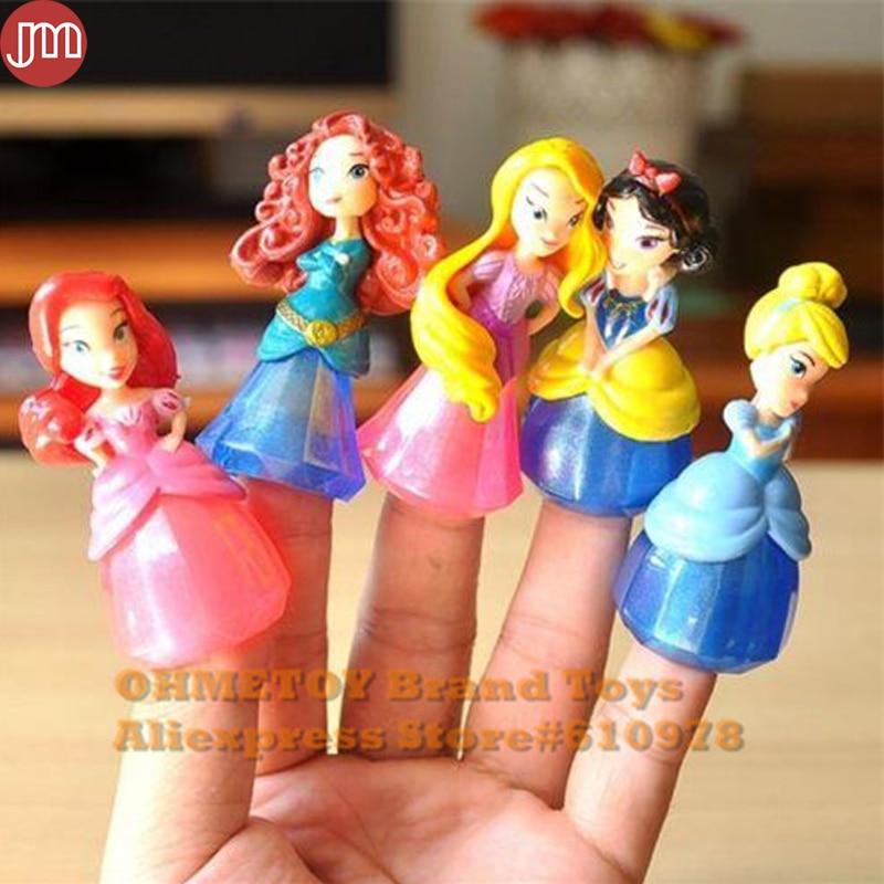7Pcs Bullyland Ariel Princess Snow White Cinderella Anna Figures Cake Toppers