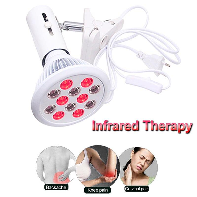 Soins de santé 24 W thérapie infrarouge lumière LED rouge soulagement de la douleur de la peau Massage corps cou épaule dos chauffage ampoules physiothérapie