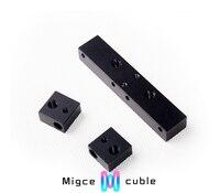 3D imprimante accessoire Maker bot/replicator G Pièces En Aluminium/bloc kit (3 pcs) 6065 en alliage d'aluminium sablage anode top qualité