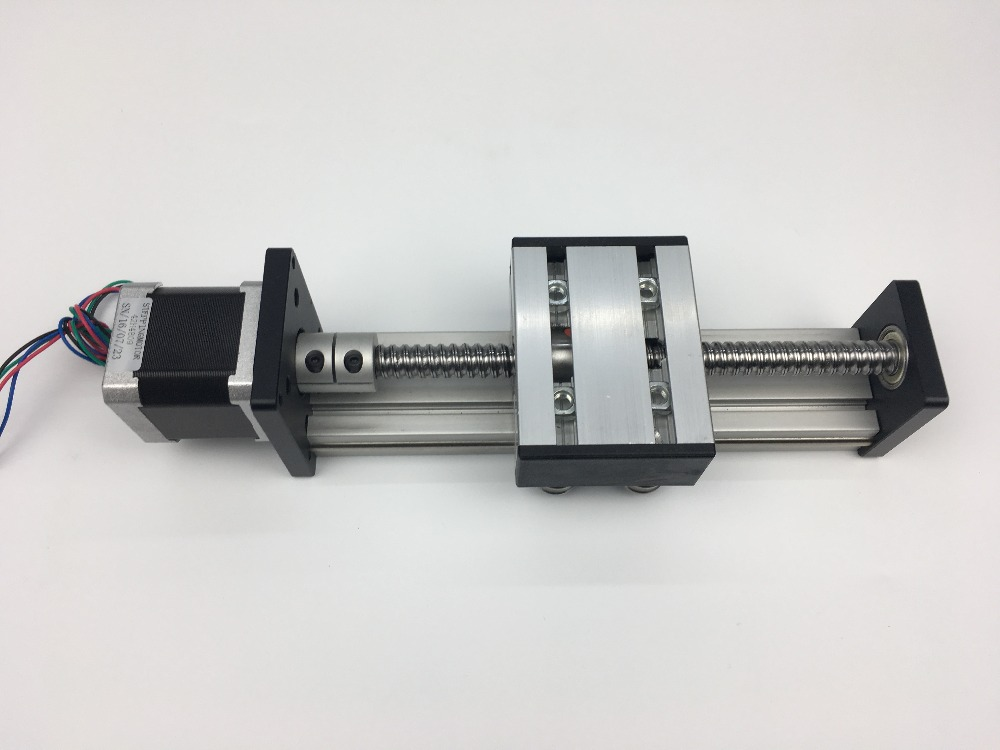 Ballscrew SG 1605 rail 650mm Travel Linear Guide + 57 Nema 23 Stepper Motor CNC Stage Linear Motion Moulde Linear ballscrew sg 1605 rail 600mm travel linear guide 57 nema 23 stepper motor cnc stage linear motion moulde linear