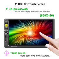 New 1 Set 7 Inch Double 2DIN HD Bluetooth Touch Screen Car MP5 Player AM FM