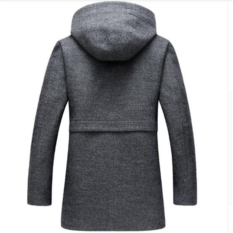 Ynzzu outono inverno jaqueta feminina sólida estilo longo grosso quente com capuz jaqueta feminina à prova de vento solto casaco outwears ao606 - 2
