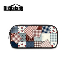 Dispalang Newest Fashion Cosmetic Bags for Girl Pretty Womens Clutch 3D Printing Striped on Makeup Case Lady Custom Picture