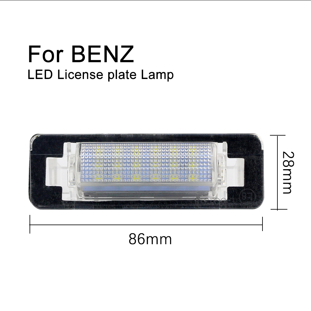 DXZ 2X Car LED License Number Plate Light Bulb Lamp Error Free for Mercedes Benz clase C E W210 W202 E300 E320 E430 E55 AMG C230 in Signal Lamp from Automobiles Motorcycles