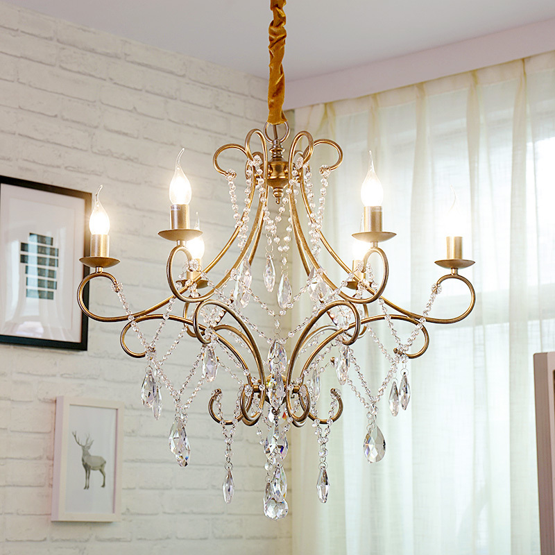 2019 Modern Crystal Lamp Chandelier For Living Room Luxury Gold Round Stainless Steel Chain Chandeliers Lighting