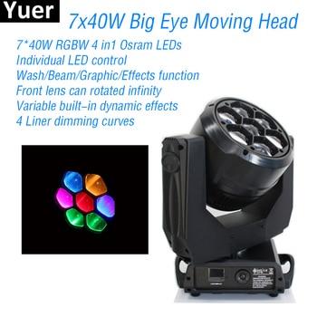 Neue 7x40W RGBW 4In1 Osram LEDs Moving Head Licht DMX512 Control DJ Disco Party Club Lichter Bühne strobe Effekt Moving Head Licht
