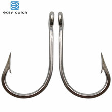 Easy Catch 30pcs 7691 Stainless Steel Sharp Big Thick Tuna Fishing Hooks Size 3/0 4/0 5/0 6/0 7/0 8/0 9/0 10/0 11/0 12/0 13/0