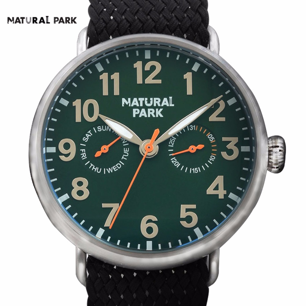 South Korea Fashion Brand Watch Quartz Casual Wristwatch NATURAL PARK Men s 2016 relojes hombre hand