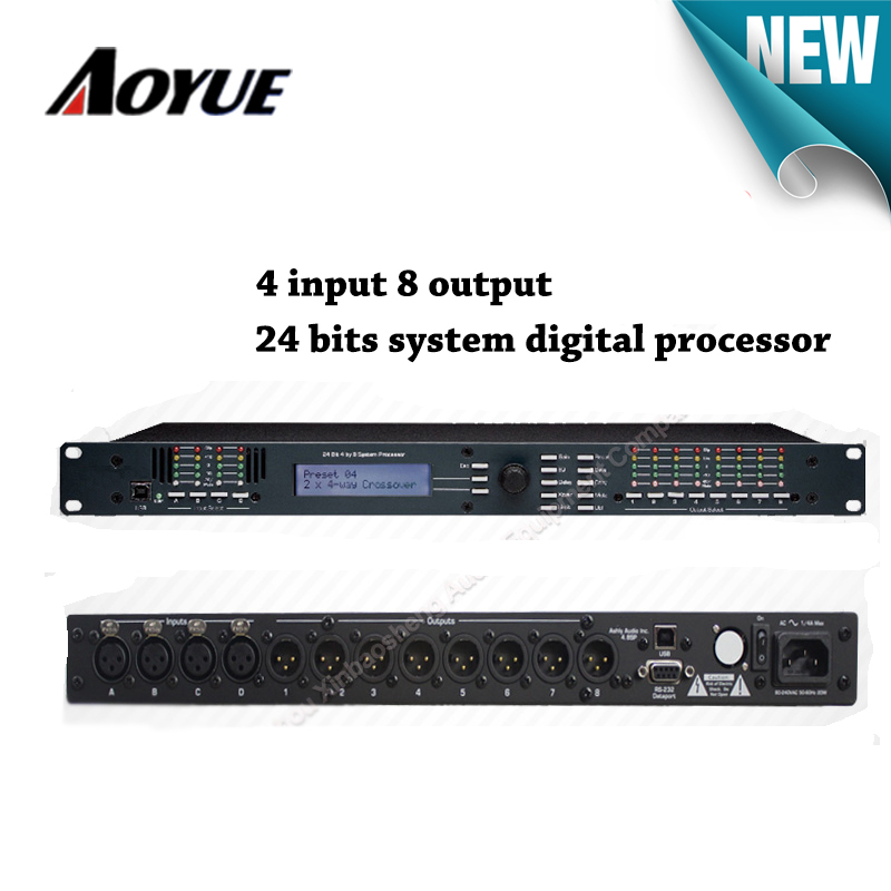 AS-4.8 Professional Digital Audio Processor 4 into 8 Stage DSP Effects dsp professional wet