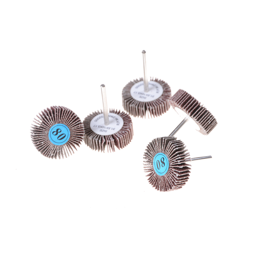 5pc 30mm Deburring Flap Sanding Polishing Wheel for Rotary Tools 1//4Inch Shank