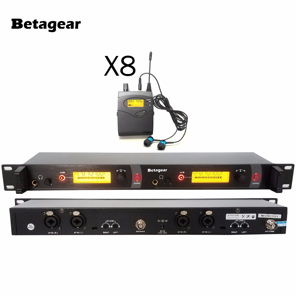 betagear in ear monitor system 8 receiver sr2050 wireless monitor system uhf wireless in ear. Black Bedroom Furniture Sets. Home Design Ideas