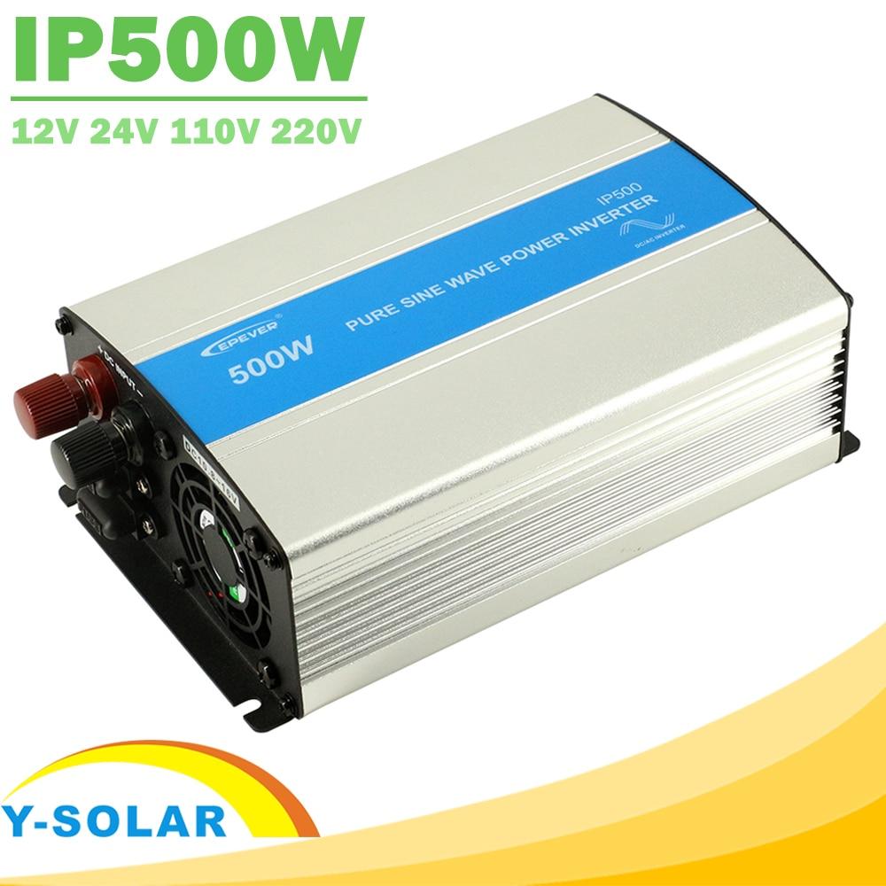 EPever IPower 500W 12V 24V DC Solar Panel Off Grid Tie Inverter 110V 220V AC ausgang Reiner Sinus Solar Inverter mit Lüfter Kühlen