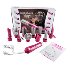 2016 Promotion Hairbrush Hair Comb hair roller combs Electric 10 In1 Multifunctional Hair Curlers Styling Tools Sticks Dryer set