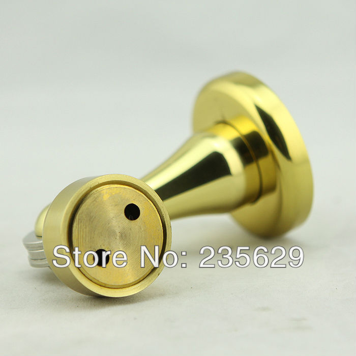 Free Shipping, Wall mounted Brass Door Stopper, suitable for interior doors, Door Holders For Sale, High suction,240g free shipping door stopper door holders for sale high suction