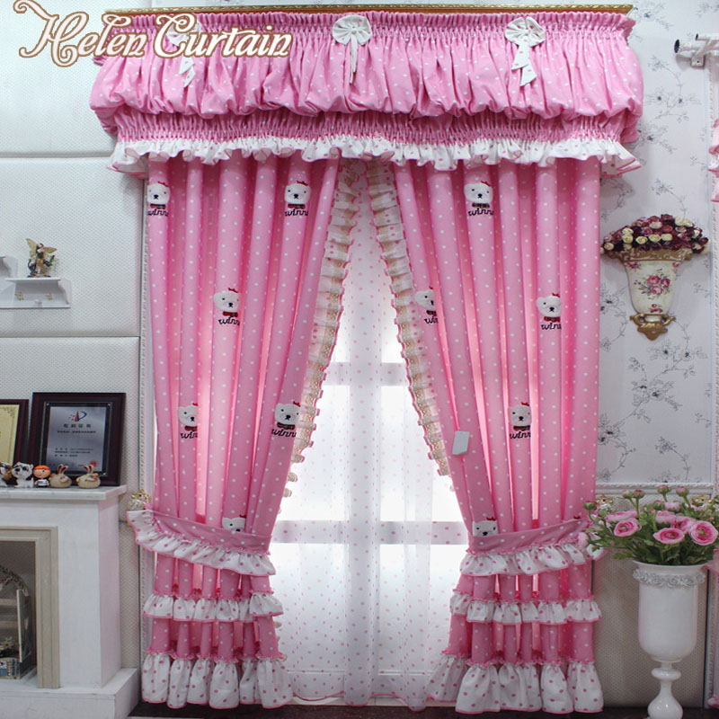 Baby Nursery Curtains Pink Curtains Kids Curtains Pair: Aliexpress.com : Buy Helen Curtain New Cartoon Pink