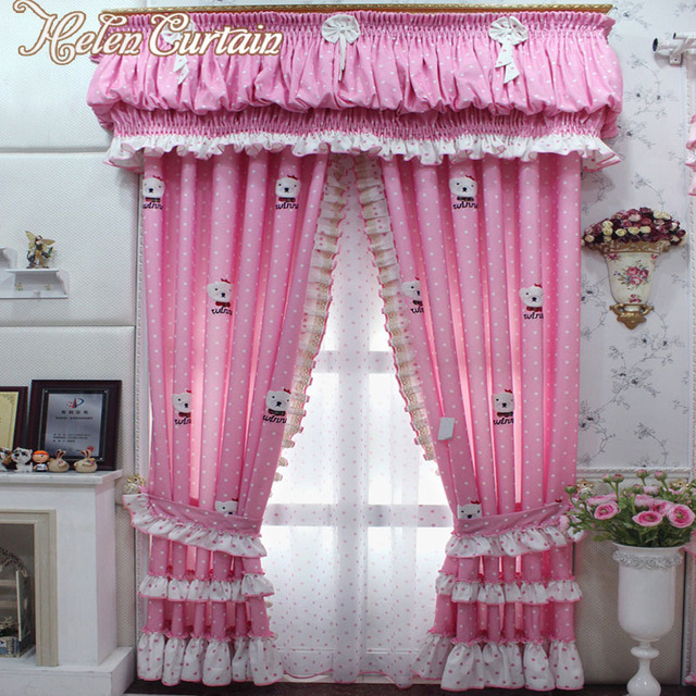 Helen Curtain New Cartoon Pink Curtains For Children Bedroom Baby Room Blackout Window Ready Made Hc306