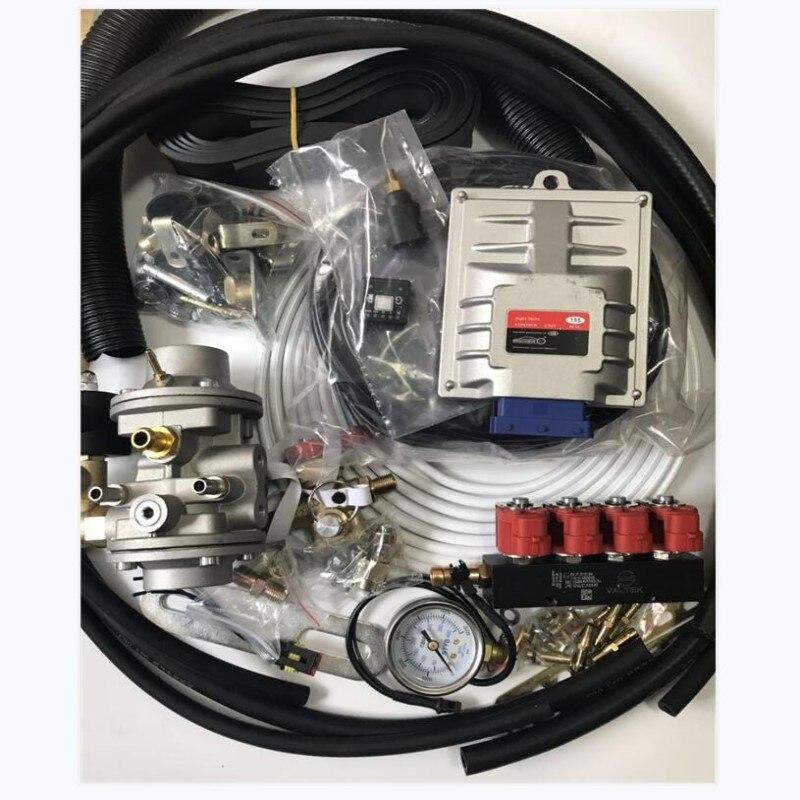 Metano CNG Kits de Conversão de Injeção Seqüencial para 3 mais simples ou 4 Cilindros Gasolina Injetada Veículo