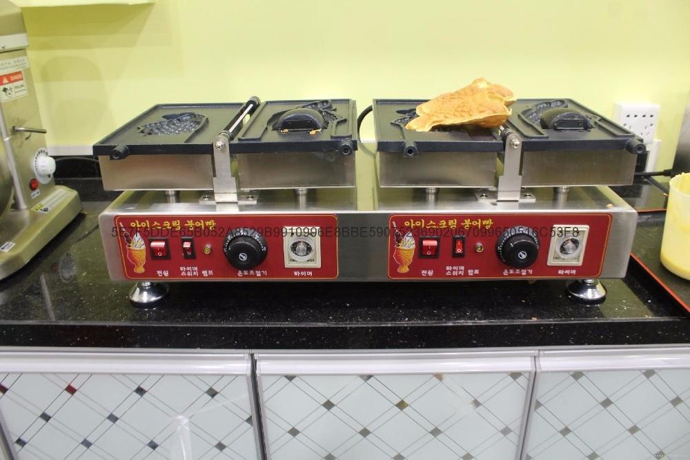 Hot sell korea electric taiyaki maker, taiyaki waffle maker for sale hot sale 32pcs gas bean waffle maker