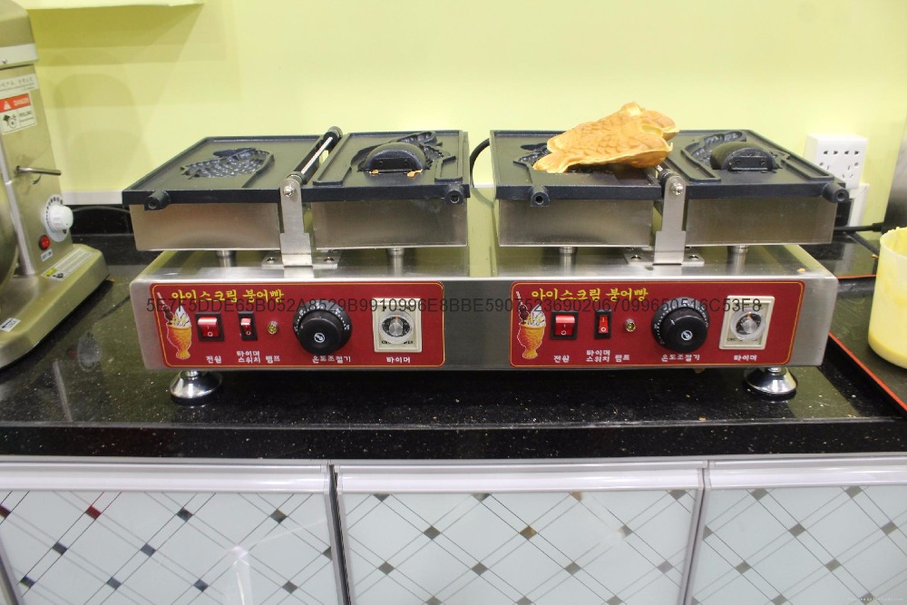 3pcs commercial-Electric FISH Gaufre//taiyaki Maker Ice Cream Mignon