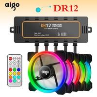 Aigo dr12 5pcs Computer Case PC Cooling Fan RGB Adjust LED 120mm Silent + IR Remote New computer Cooler Cooling RGB Case Fan CPU