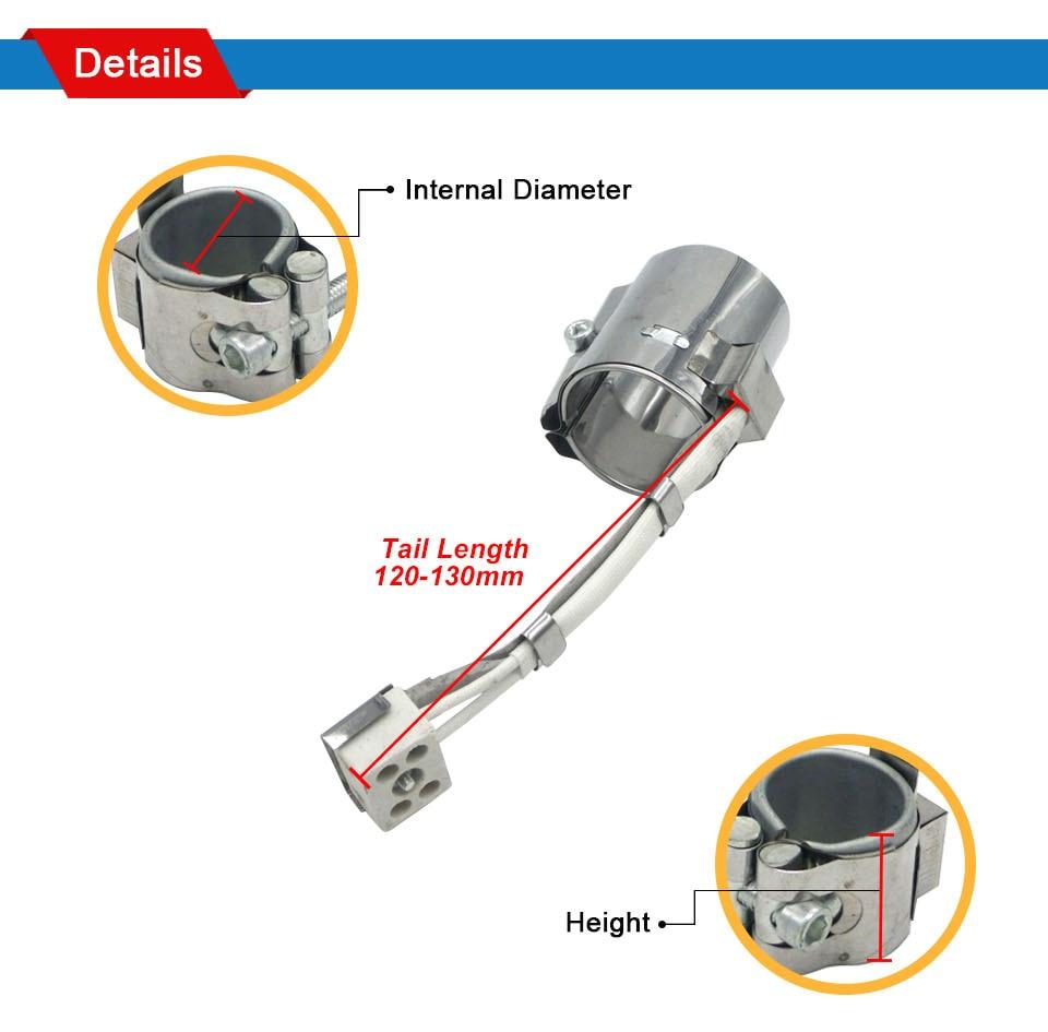 LJXH нагревательная полоса 220 В нержавеющая сталь 70x50 мм/70x55 мм/70x60 мм Керамика нагревательный элемент Мощность 330 Вт/360 Вт/400 Вт