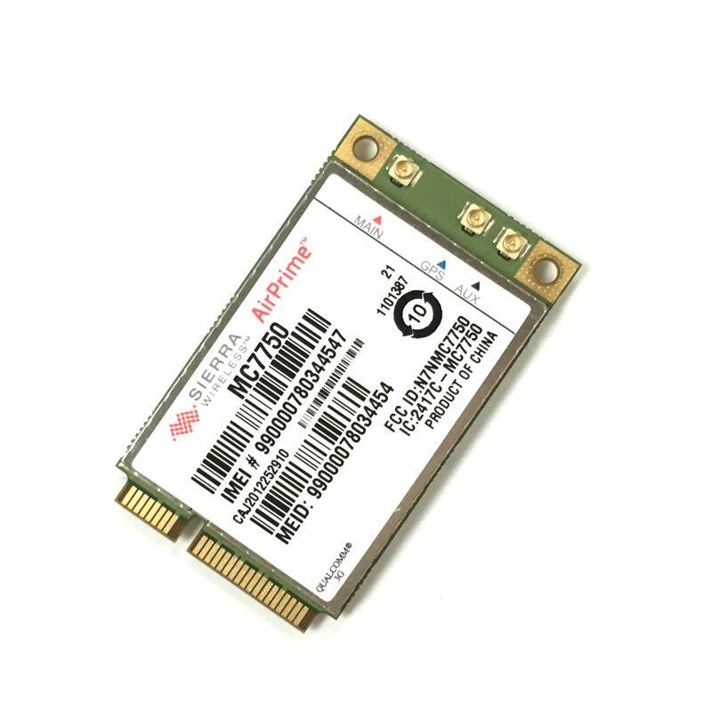 Unlocked Sierra AirPrime MC7750 LTE 700 (B13) HSPA+ GSM GPRS EDGE and EV-DO Module 4G PCI Express WWAN Card Verizon new unlocked sierra mc8780 wireless 3g wwan 7 2mbps hsupa hsdpa umts gprs gps edge module mini pci e card for dell acer asus