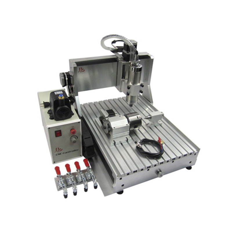 assembled 1.5KW 3040 Z-VFD 4 axis cnc wood router with water cooled spindle for wood crystal metal 1set water cooled spindle motor 1 5kw with a vfd as a set for cnc