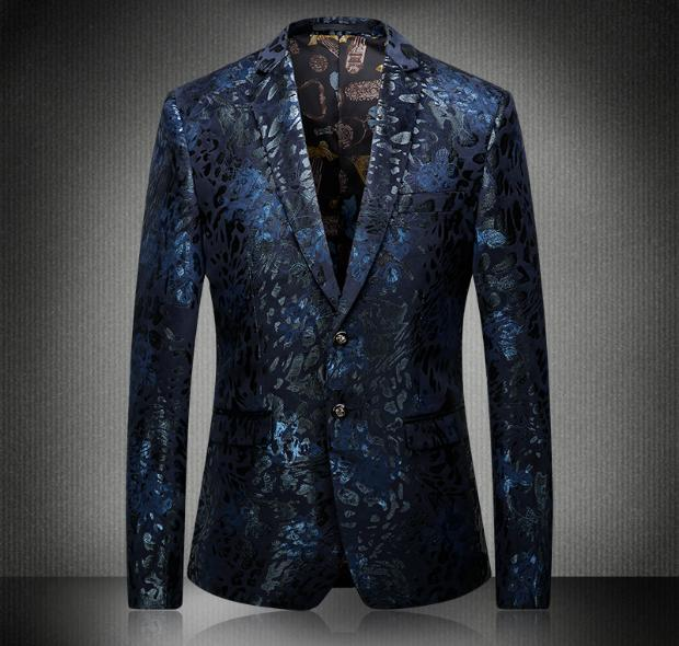The new Europe and the United States men's 2017 spring Fashionable jackets jacquard cultivate one's morality