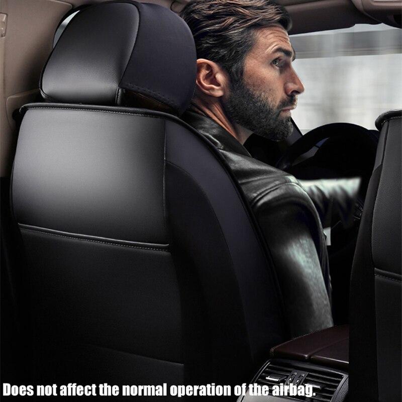 KADULEE siège de voiture En Cuir couvre Pour nissan X-TRAIL t30 t31 t32 patrol terrano 2 tiida wingroad versa Qashqai Note juke voiture sièges - 5
