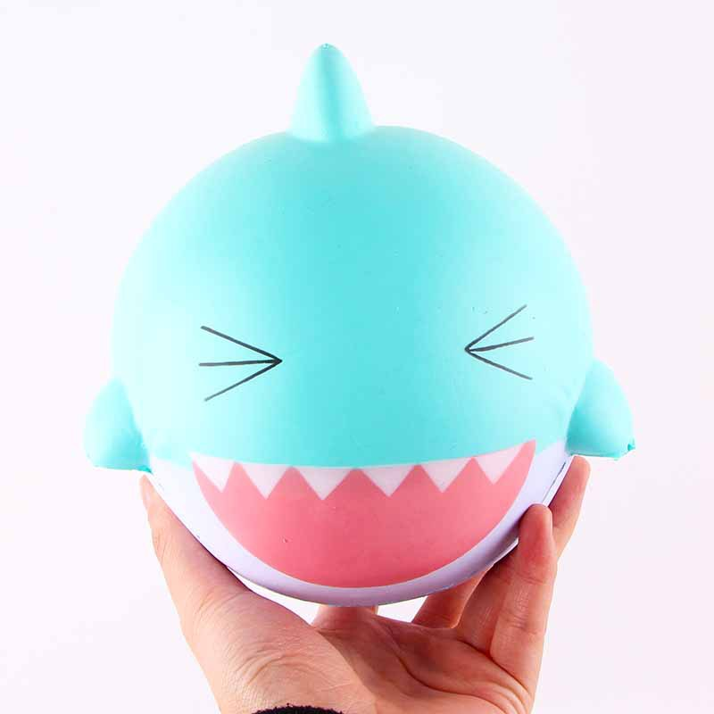Hot Sales 15cm Lovely Happy Pink Animal Shark Soft Squishyed Toy Slow Rising Squeeze Toys Stress Relief Gifts For Kids Childern