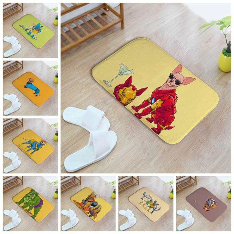Doormat Cartoon Animals Cool Dogs Indoor Porch Door Bathroom Carpet Velvet Fleece Carpet Rugs For Kitchen Living Room Floor Mat