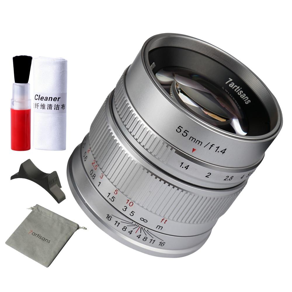 7artisans 55mm F1 4 Large Aperture Manual Focus Micro Camera Prime Fix Focus Length Lens For