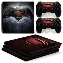 Для Ps4 PRO Playstation 4 PRO консоль наклейка кожи Стикеры штурмовика из мультфильма «Звездные войны»+ 2 контроллер набор скинов Бэтмен против Супермена рассвет ЮС