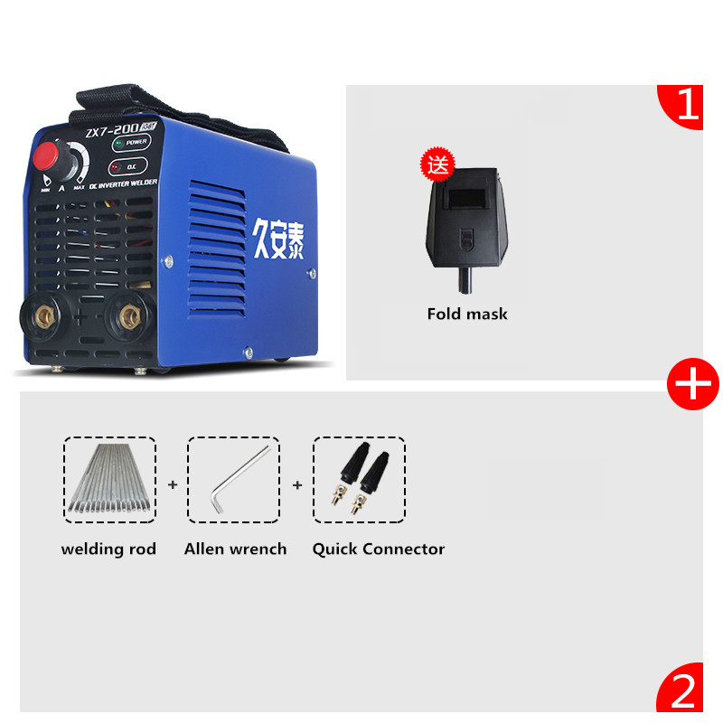 220V Household MINI inverter MMA DC welding machine welder 2.5/3.2 200A portable arc welder household inverter high quality mini electric welding machine 200 amp 220v for household